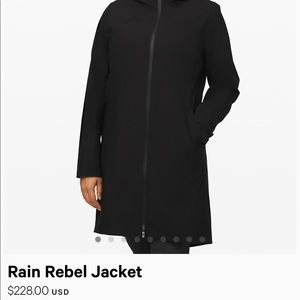 NWT lululemon Rain Rebel jacket
